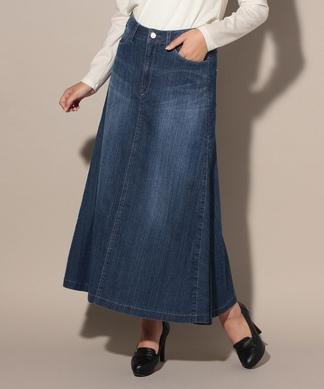 デニムのロングスカート