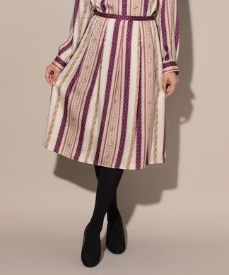 【DIVISIONE TESSILE】レトロフラワーのスカート