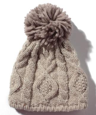 【STORY12月号掲載】【ANGIOLO FRASCONI】ケーブル編みニット帽