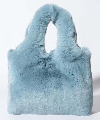 レッキスラビットのファーハンドバッグ