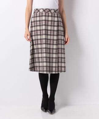 【セットアップ対応】【2gtricot】チェックのラップ風スカート
