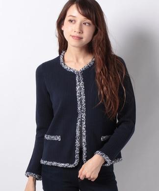 【MUSETTI】ニットジャケット