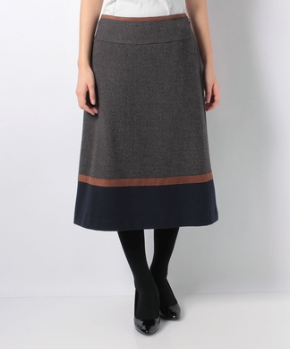 【特別提供品】【セットアップ対応商品】配色切替スカート