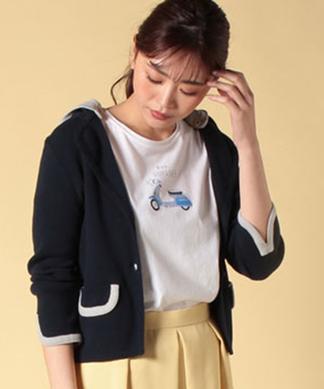 【2WAY】 フード付きニットジャケット