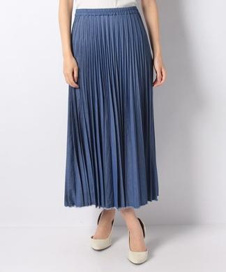 【セットアップ対応】デニムのプリーツスカート