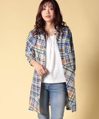 【LISA】チェックのチュニックシャツ