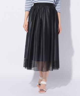チュールのフレアスカート