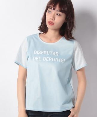 異素材ミックスTシャツ