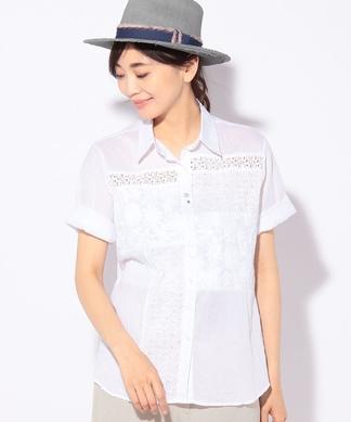 【FABIO DANI】レースMIXシャツ