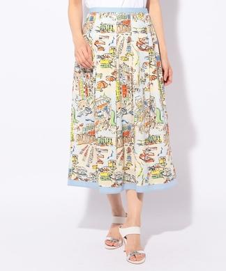 【セットアップ対応】 【LISA】プリントスカート