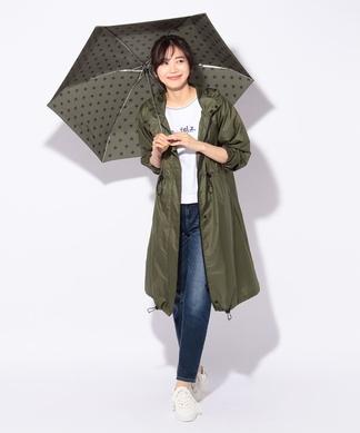 折りたたみ傘付きレインコート(ポーチ付き)