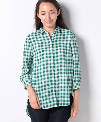 【特別提供品】ブロッキングチェックのシャツ