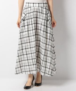 【特別提供品】チェックのフレアスカート