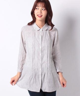 【特別提供品】【ALBINI】細ストライプのリネンシャツ