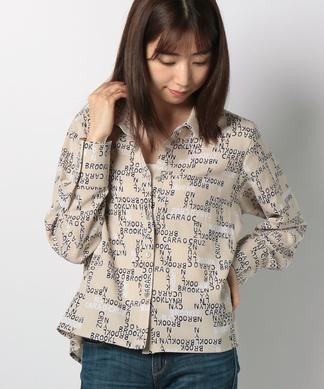 【セットアップ対応】 ロゴプリントシャツ