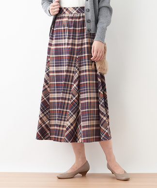 【MONTI】チェックのマキシスカート