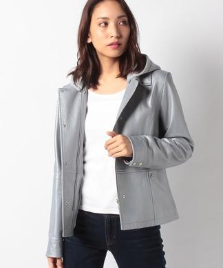 【2WAY】羊革ジャケット