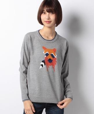 たぬきモチーフセーター