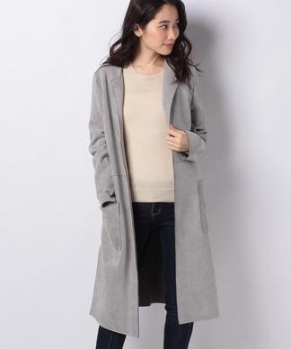 スエード調のコート