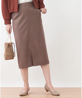 【特別提供品】チェックのタイトスカート