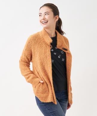 【特別提供品】トグル釦付きニットジャケット