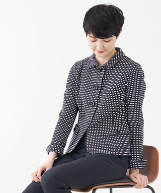 【セットアップ対応商品】配色チェックジャケット