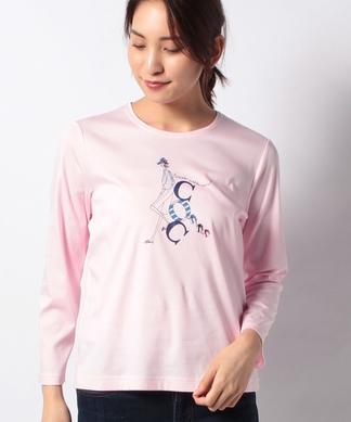 【接触冷感】ガールモチーフTシャツ