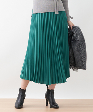 ロングプリ-ツスカート
