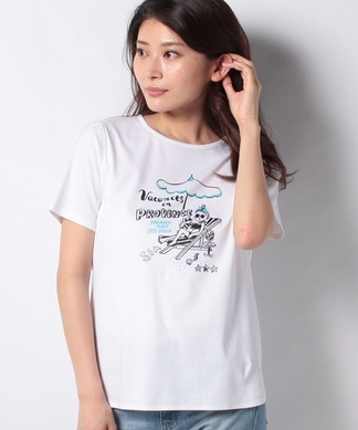 ガールモチーフTシャツ・ヴァカンス