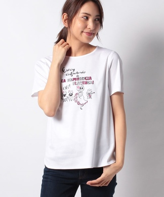 ガールモチーフTシャツ・フラメンコ