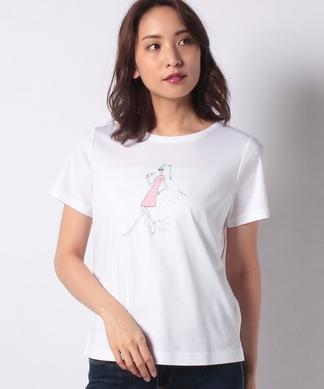 ガールモチーフTシャツ