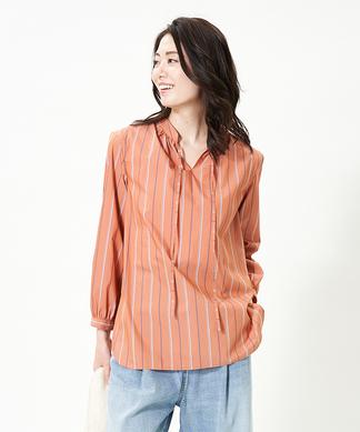 【SOMELOS】ストライプシャツ