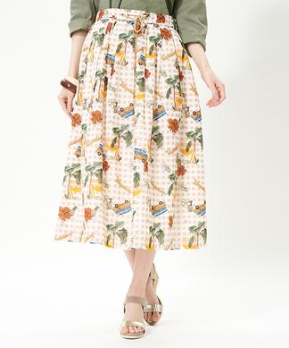 【セットアップ】【LISA 】フラワースカート