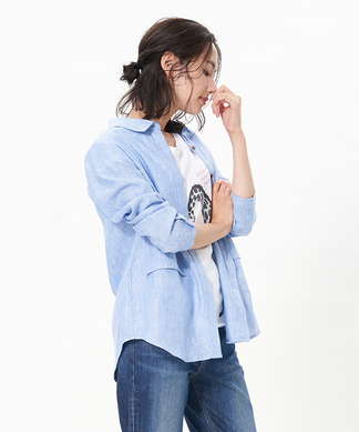 【FABIO DANI】麻シャツ