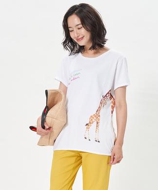 【nach】キリンプリントTシャツ