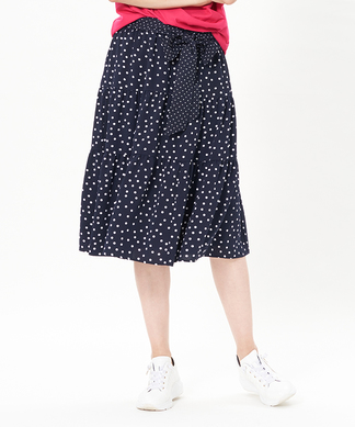 【セットアップ対応商品】ドットティアードスカート