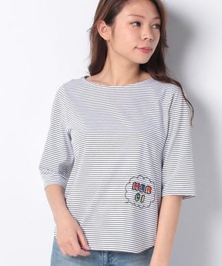アップリケボーダーTシャツ