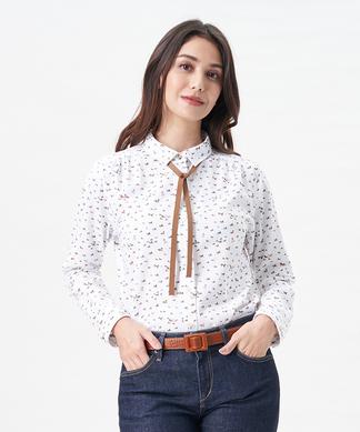【LEGGIUNO】タイ付きホースプリントシャツ(箱付き)