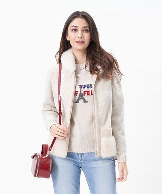 【LISA CONTE】シープ使いのフーデットジャケット