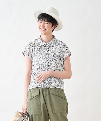 【セットアップ】ポッププリント半袖シャツ