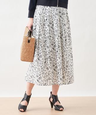 【セットアップ】ポッププリントスカート