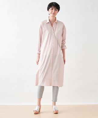【SIDO GRAS】ストライプのロングシャツ