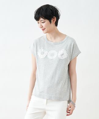 レースモチーフTシャツ