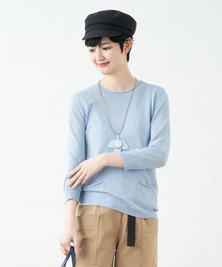 ポケット付きセーター