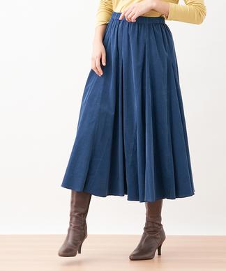 ロング切替スカート
