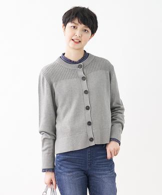 リブ編み切り替えセーター