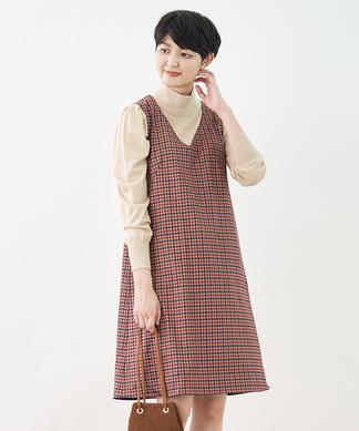 リバーシブルのジャンパースカート