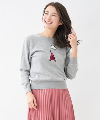 柄編みセーター
