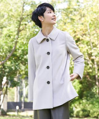 襟付きコート
