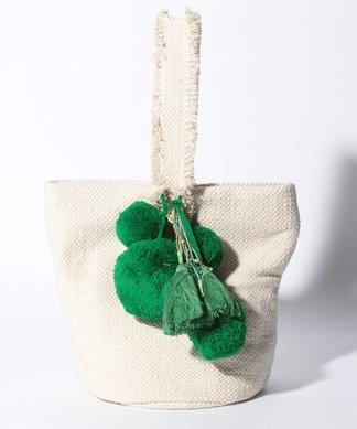 【JAMIRAY】ポンポン付ハンドバッグ